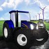 Wyścig traktorów na farmie