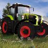 Załadowany traktor